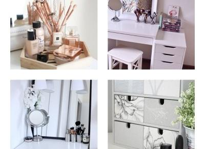Pomysły na organizację małej toaletki + DIY | Ola Adamkiewicz