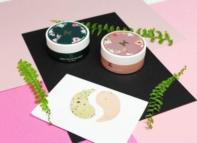 JAYJUN, Roselle and Green Tea Eye Gel Patches - Hydrożelowe płatki pod oczy z zawartością zielonej herbaty oraz wyciągu z kwiatu hibiskusa - Sakurakotoo