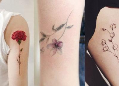 Tatuaże birth flowers: kwiaty a miesiąc urodzenia | Papilot