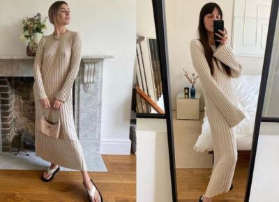 Sukienka z dzianiny na lato 2020 to hit Instagrama.