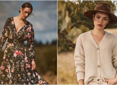 MOHITO Prairie Girl: puszyste swetry, sukienki ze sztucznej skóry & botki na szerokim obcasie.