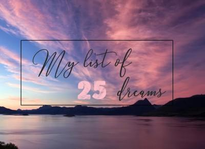 25 moich marzeń - My list of 25 dreams - Salvatore