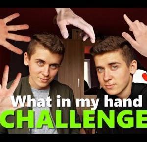 WHAT IN MY HAND Challenge / Bliźniak TAG