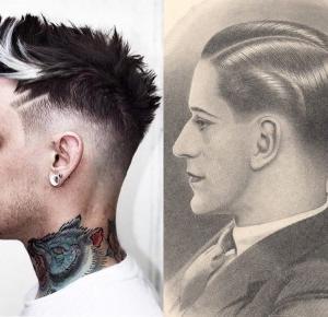Fryzury męskie kiedyś a dziś