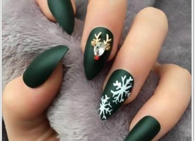 Paznokcie świąteczne- inspiracje