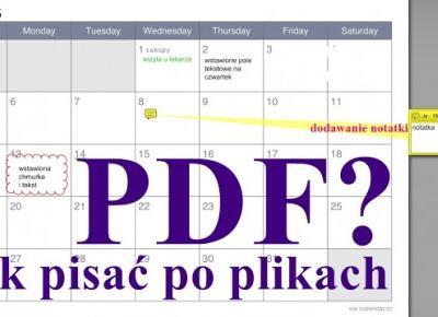 Jak pisać po dowolnych plikach PDF? Bardzo prosto.