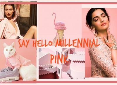SAY HELLO MILLENNIAL PINK