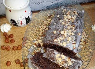 Orzechowo-czekoladowa babka (na orzechach laskowych) | Słodkie okruszki