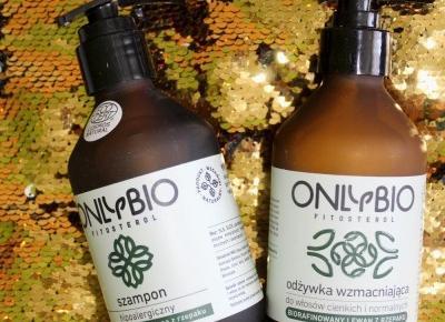 Szampon i odżywka Onlybio – naturale, wegańskie kosmetyki | Słodkie okruszki