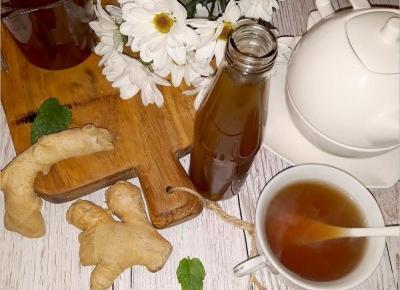 Syrop imbirowy z nutą cynamonu | Słodkie okruszki