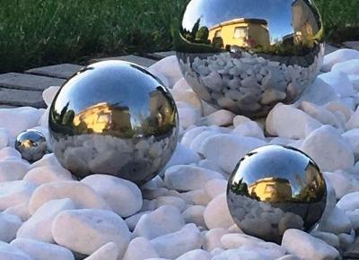Kule ze stali nierdzewnej, komplet trzech sztuk: 20,15,i 10 cm