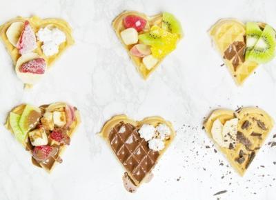 Stylowo i Zdrowo: Przepis na fit gofry - idealny walentynkowy deser
