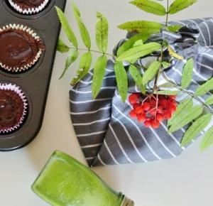 Stylowo i Zdrowo: Bananowo-czekoladowe muffinki bez cukru - jesienny prezent