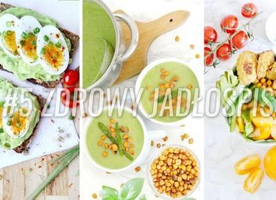 Letni wegetarianski jadlospis 1600 kcal