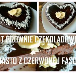Brownie czekoladowe wersja FIT z czerwonej fasoli