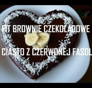 BROWNIE CZEKOLADOWE z CZERWONEJ FASOLI FIT przepis na zdrowe ciasto
