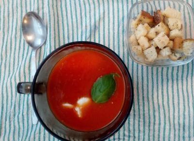 Amore pomidore - przepis na zupę krem z pomidorów za 3,50zł za porcję :)