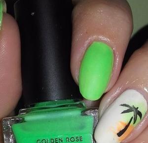 Kolorowy Świat Terii: Golden Rose Ice Chic 305, Bo Na Plaży Fajnie Jest