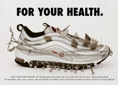 Parodie plakatów reklamowych Nike Air Max