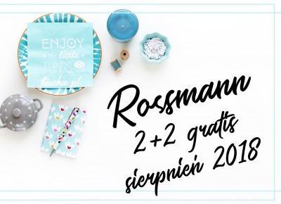 Promocja, która powinna Cię zainteresować: Rossmann 2+2 gratis ( sierpień 2018 )