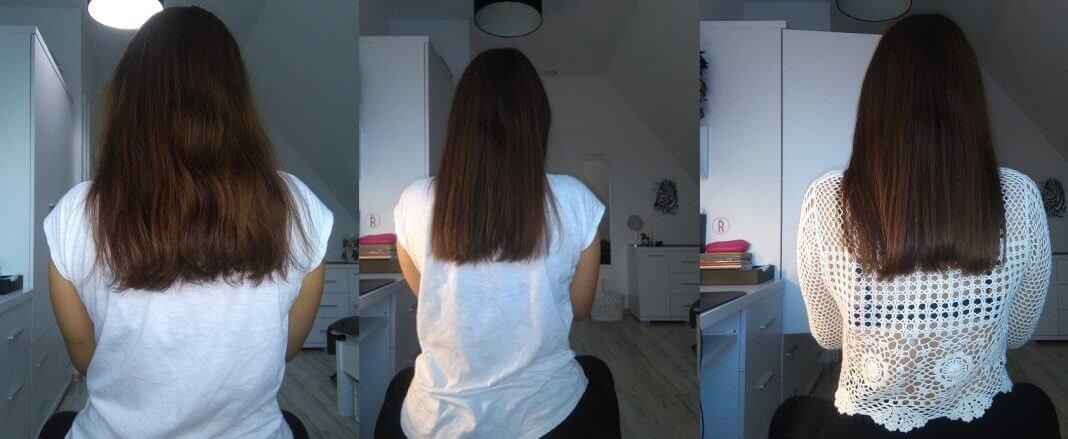 Keratynowe prostowanie włosów w domu - Zdjęcia przed i po