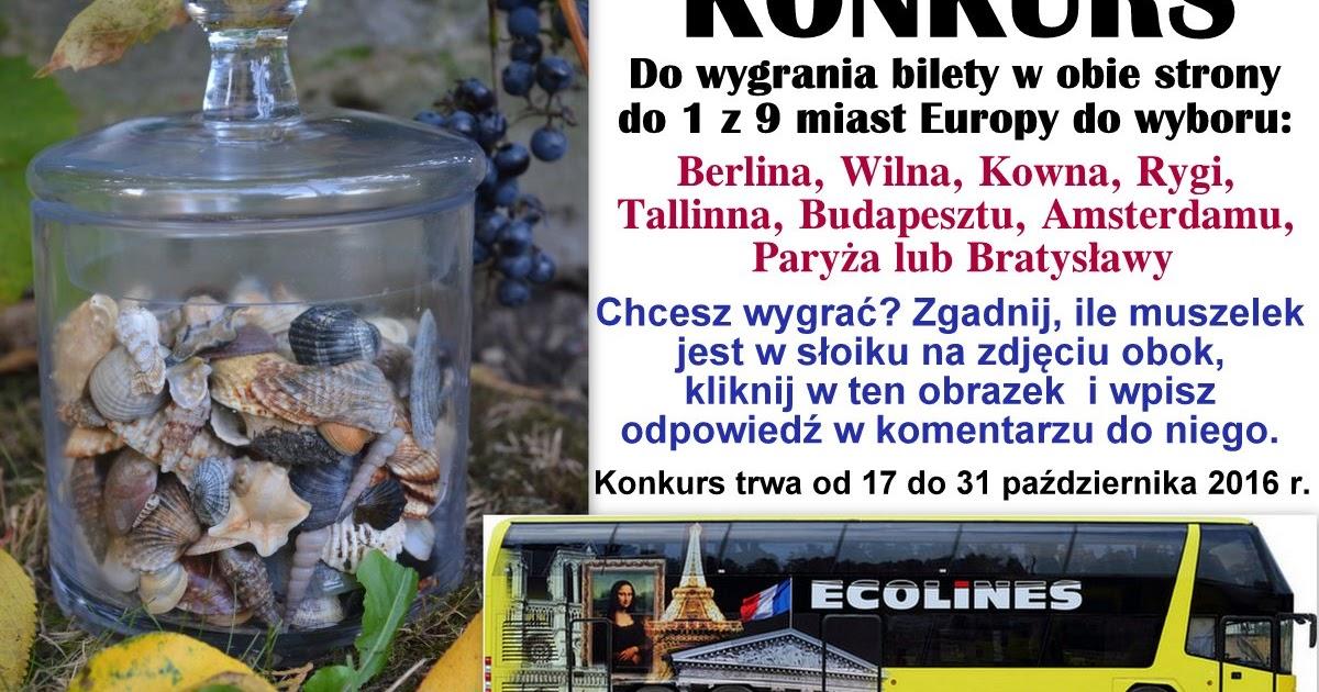 Podróże Dwóch Włóczykijów  ~  Two Gadabouts' Journeys: Konkurs turystyczny z ECOLINES - do wygrania bilety w obie strony do jednego z 9 miast Europy! :)