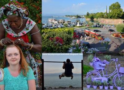Podróże Dwóch Włóczykijów  ~  Two Gadabouts' Journeys: Afrykańska fryzura, Jezioro Garda, zapach lawendy i turystyczna ciuchcia - spacer po mieście Peschiera del Garda we Włoszech