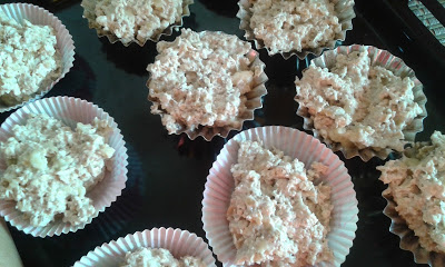 Fioletowy kącik: Oatmeal muffins with banana.