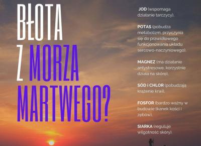 Właściwości błota z Morza Martwego - Artykuły Wiadomości - NetKobieta