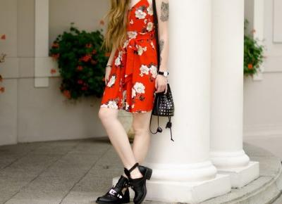 UNCARO: FLORAL SLIP DRESS