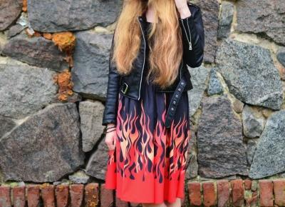 UNCARO: Fire print dress