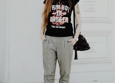 UNCARO: CHECKED PANTS - GRUNGE LOOK