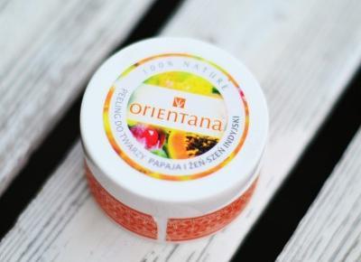 UNCARO: ORIENTANA - Naturalny peeling to twarzy papaja i żeń-szeń indyjski