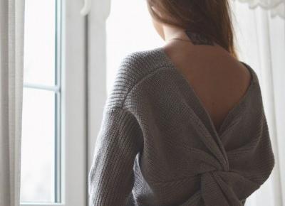 UNCARO: Open back sweater