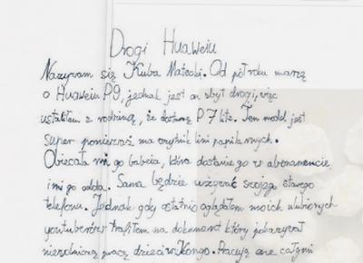 10-latek napisał taki list do Huawei, że wszyscy dorośli powinni mu zazdrościć