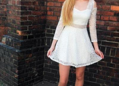 ♡ OOTD: biała koronkowa sukienka ♡ - Verczik Blog by Veronica Masajada