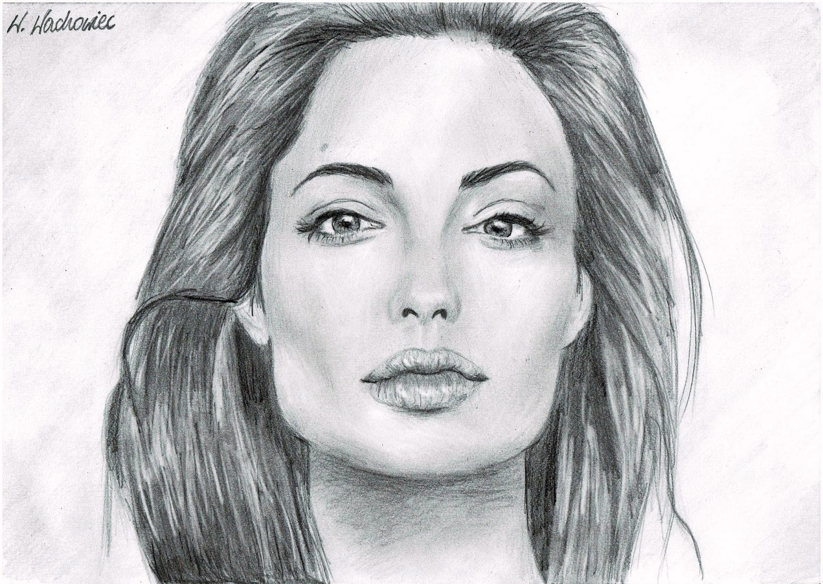 DRAWING OF ANGELINA JOLIE