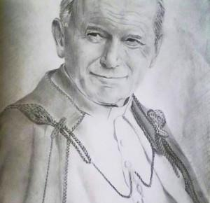 DRAWING JAN PAWEŁ II
