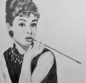 DRAWING OF AUDREY HEPBURN