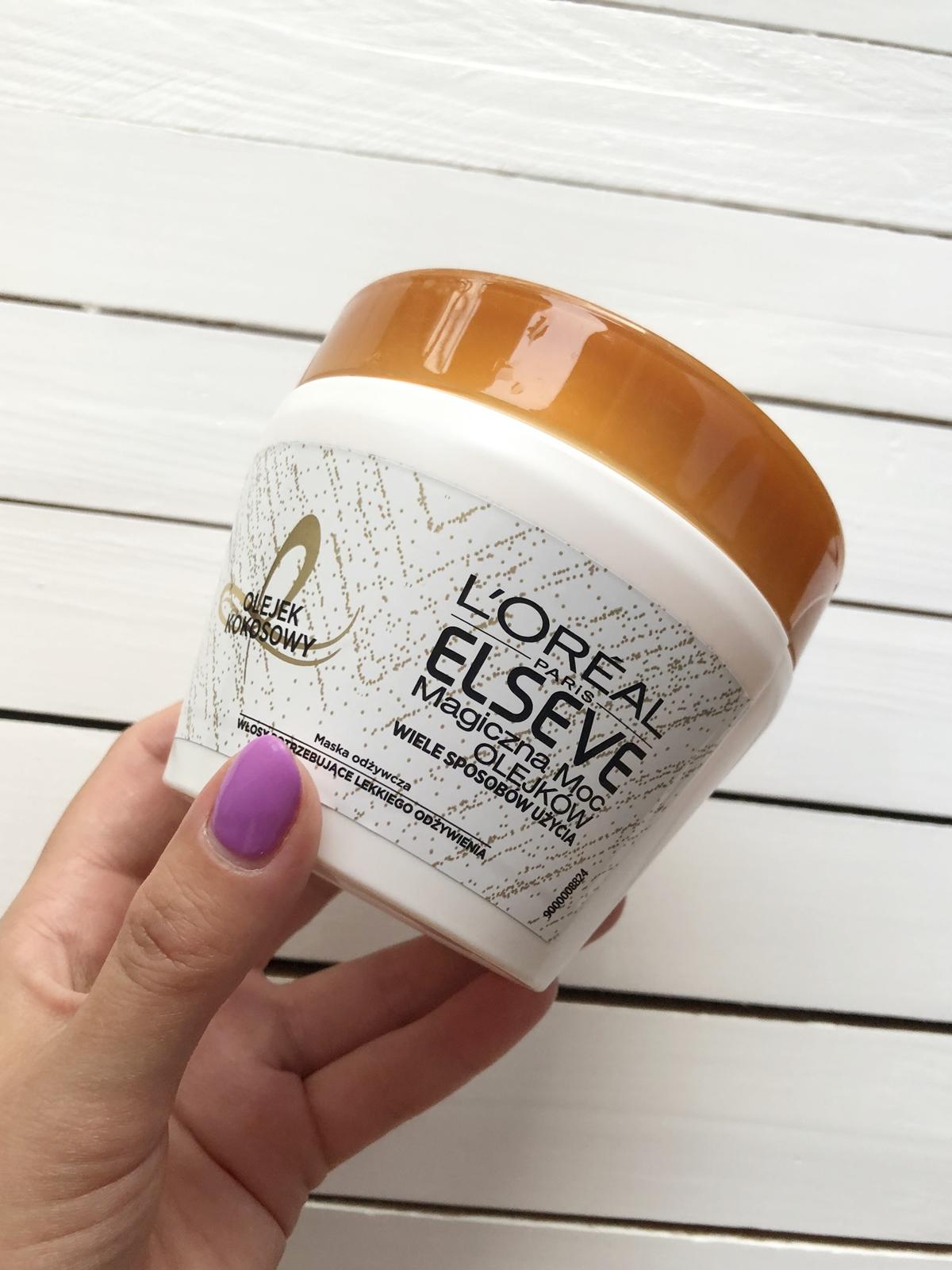 L`Oreal Paris - Elseve - Magiczna Moc Olejków - Maska odżywcza z olejkiem kokosowym | VEXGIRL - beauty and lifestyle blog