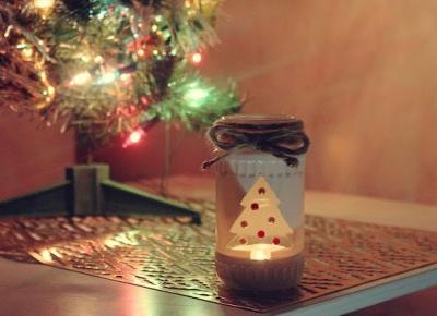 ważkowa: Świąteczny lampion ze słoika