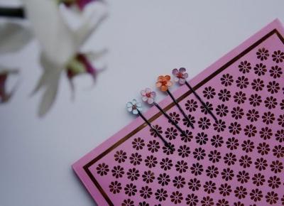 ważkowa: Diy wsuwki do włosów z kwiatkami