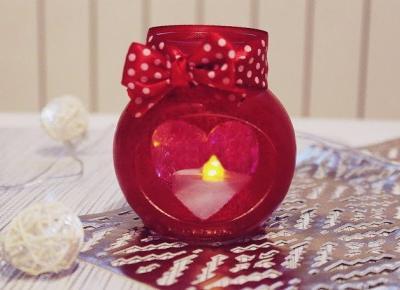 ważkowa: walentynkowy lampion