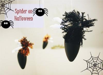ważkowa: Diy : Pająki na Halloween