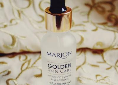 Ważkowa : ,,Golden Skin Care'' serum do twarzy, szyi i dekoltu firmy Marion
