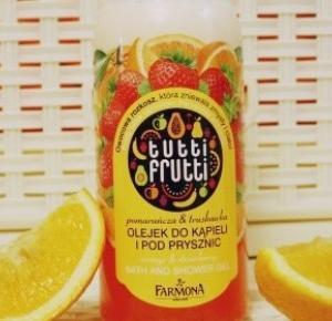 Ważkowa : Tutti Frutti olejek do kąpieli i pod prysznic Pomarańcza i Truskawka