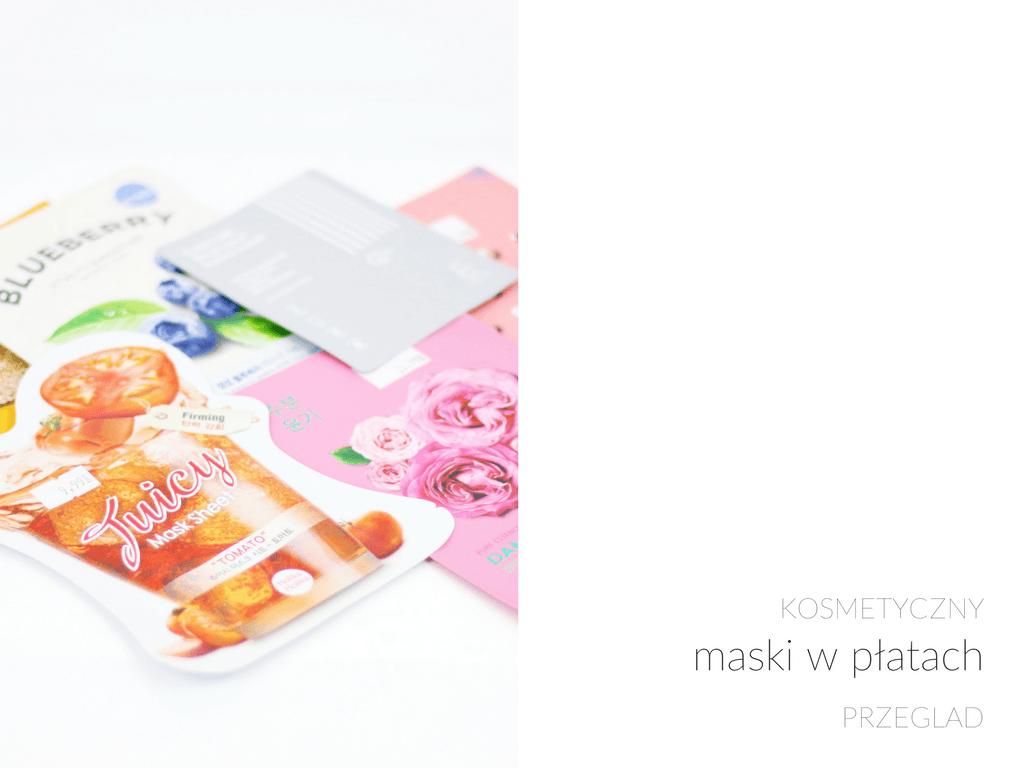 maski w płatach / koreańska pielęgnacja / przegląd 5 masek / holika holika - wee mini / blog kosmetyczny / blog o urodzie