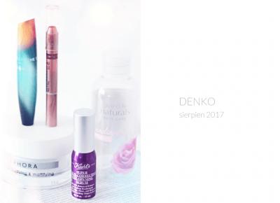 Zużycia SIERPNIA 2017 / DENKO / MINI RECENZJE - wee mini / blog kosmetyczny / blog o urodzie