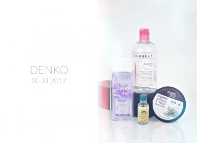Zużycia WRZESIEŃ-LISTOPAD 2017 / DENKO / MINI RECENZJE - wee mini / blog kosmetyczny / blog o urodzie