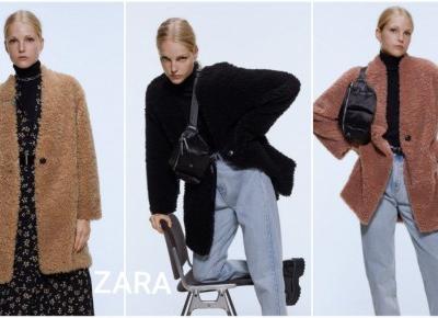 ZARA - płaszcz ze sztucznego baranka w promocyjnej cenie!